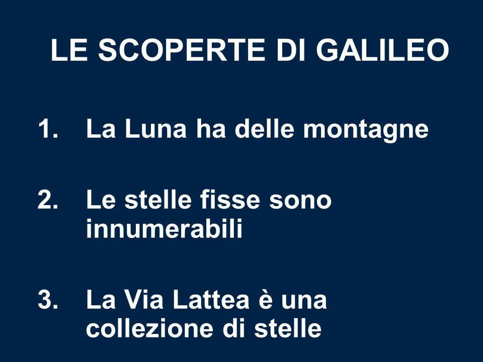 LE SCOPERTE DI GALILEO 1. La Luna ha delle montagne 2.