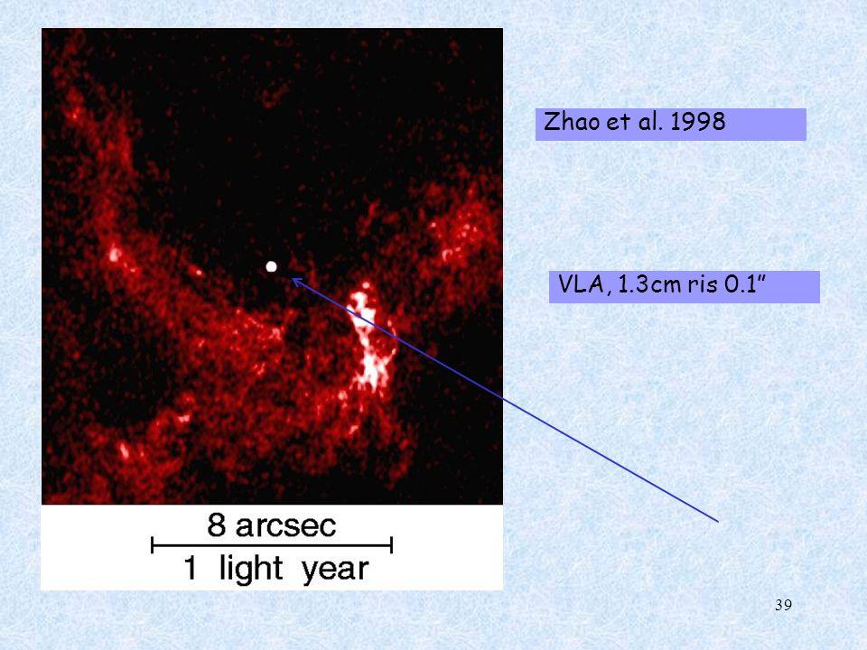 Zhao et al. 1998 VLA, 1.3cm ris 0.1 39