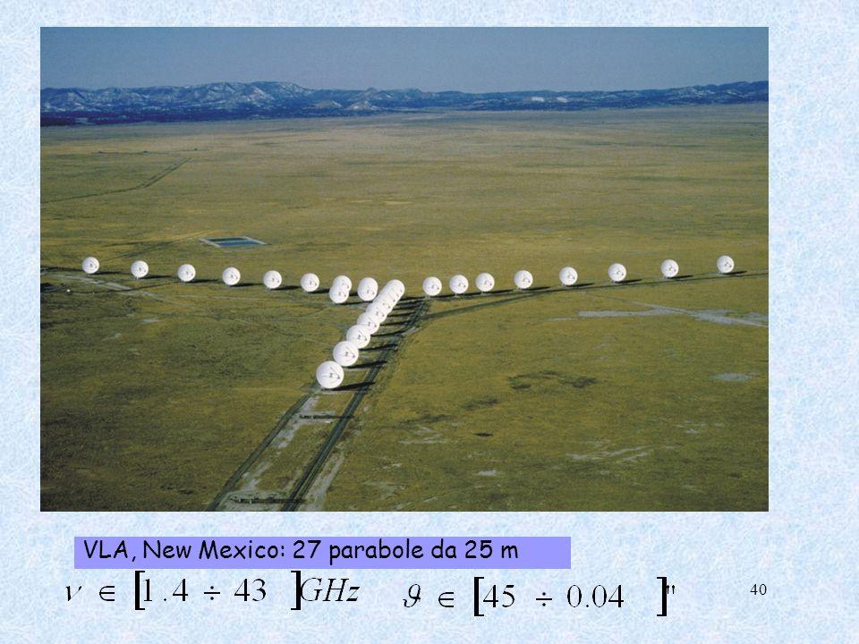 VLA, New Mexico: 27 parabole da 25 m 40
