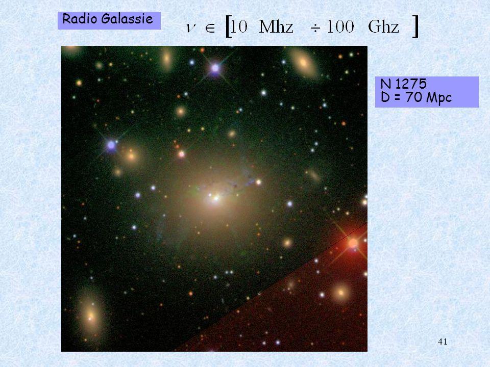 Radio Galassie N 1275 D = 70 Mpc 41