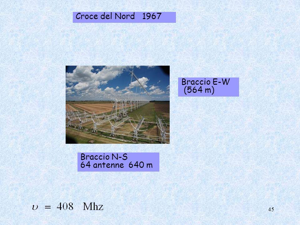 Croce del Nord 1967 Braccio E-W (564 m) Braccio N-S 64 antenne 640 m 45