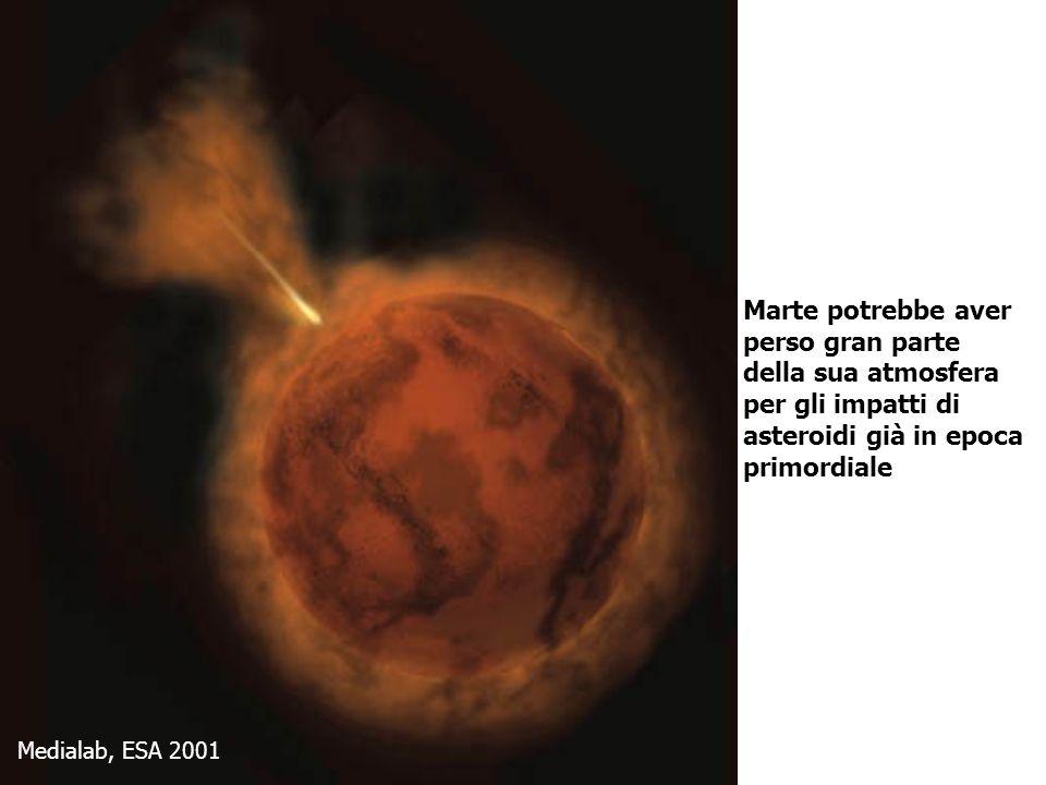 Medialab, ESA 2001 Marte potrebbe aver perso gran parte della sua atmosfera per gli impatti di asteroidi già in epoca primordiale