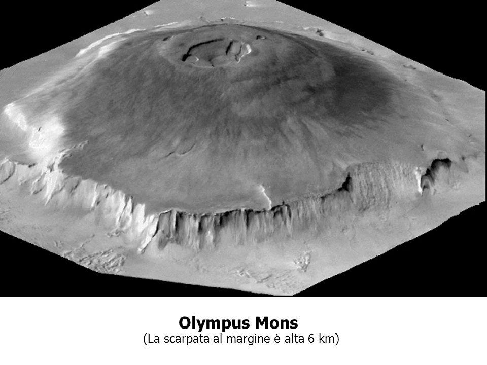 Olympus Mons (La scarpata al margine è alta 6 km)
