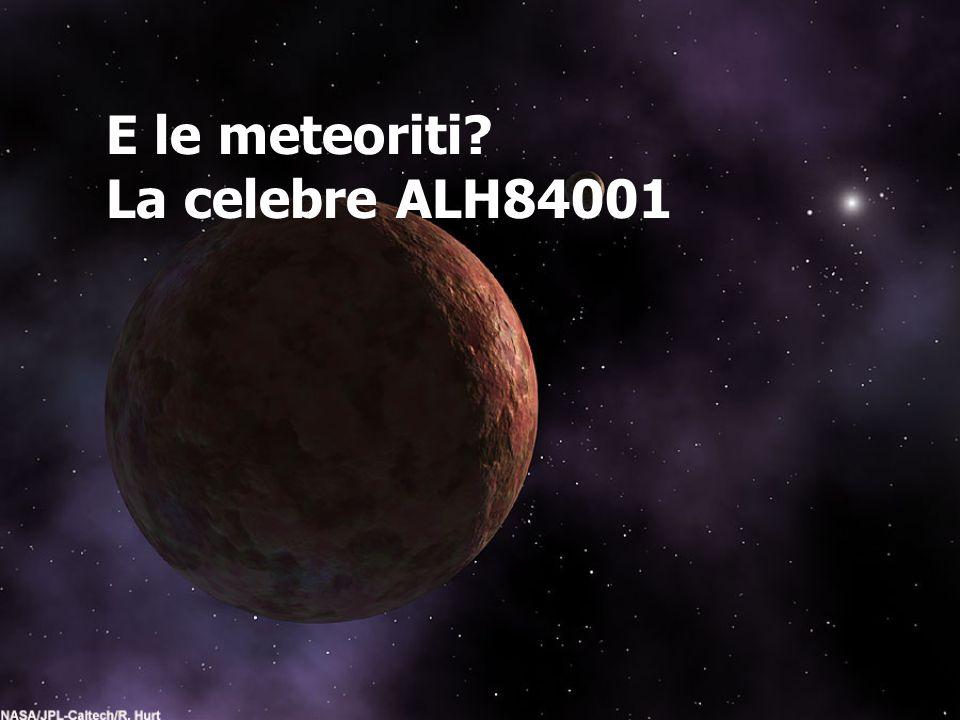 E le meteoriti? La celebre ALH84001