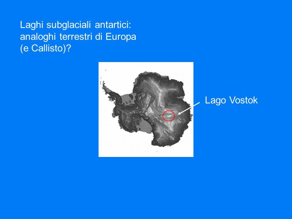Laghi subglaciali antartici: analoghi terrestri di Europa (e Callisto)? Lago Vostok