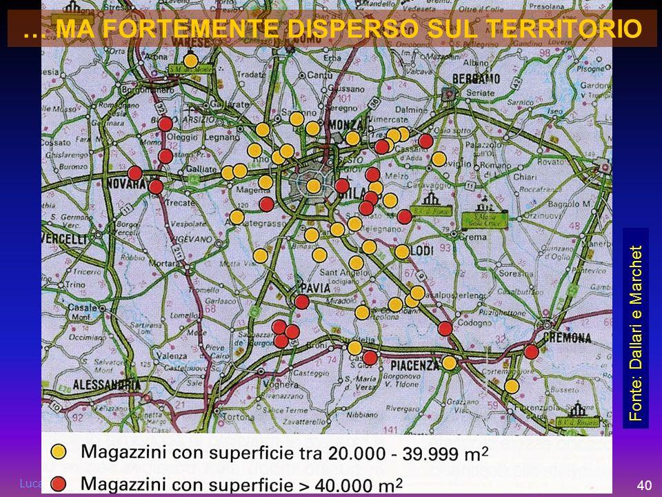 Luca Lanini - ITL Piacenza - luca.lanini@fondazioneITL.org 40 Fonte: Dallari e Marchet … MA FORTEMENTE DISPERSO SUL TERRITORIO