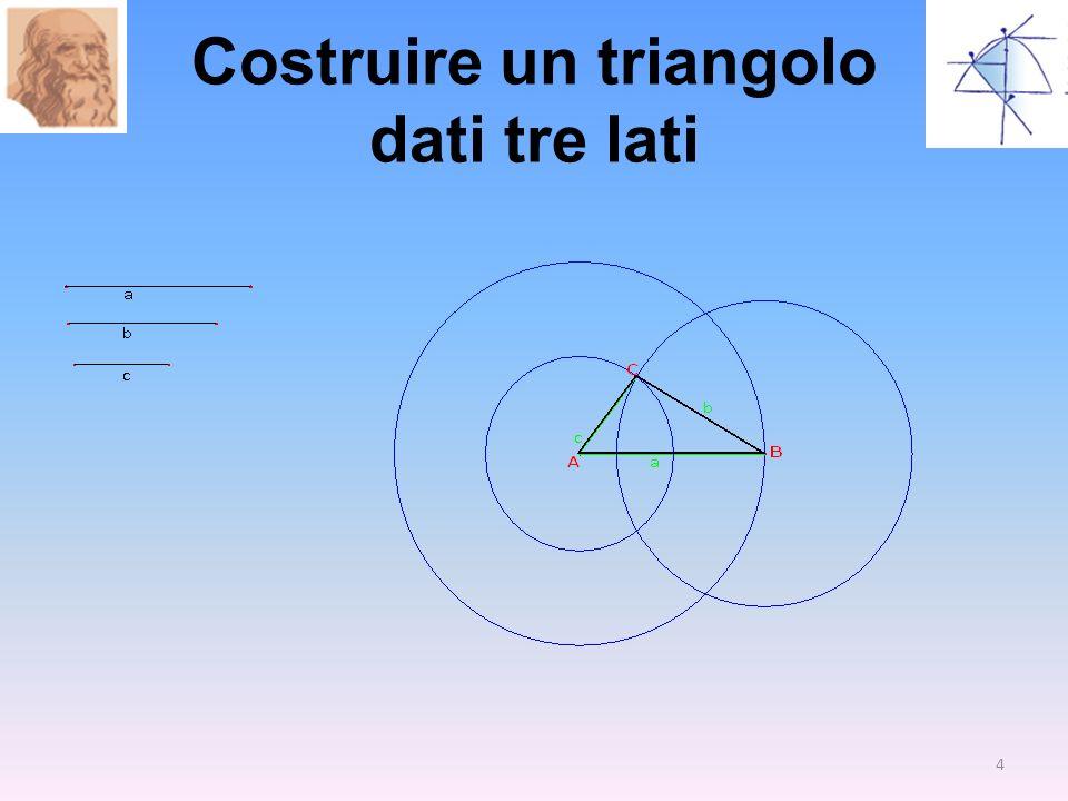 Costruire un triangolo dati tre lati 4