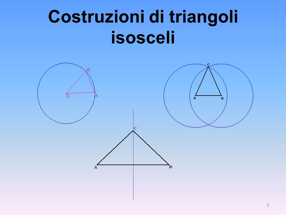 Costruzioni di triangoli isosceli 9