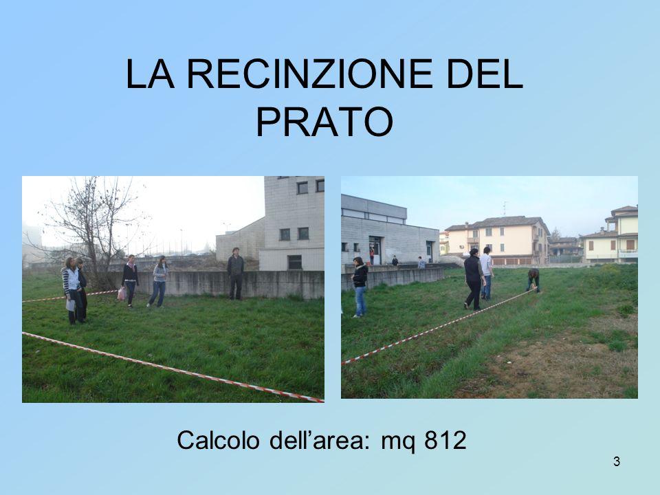 3 LA RECINZIONE DEL PRATO Calcolo dellarea: mq 812