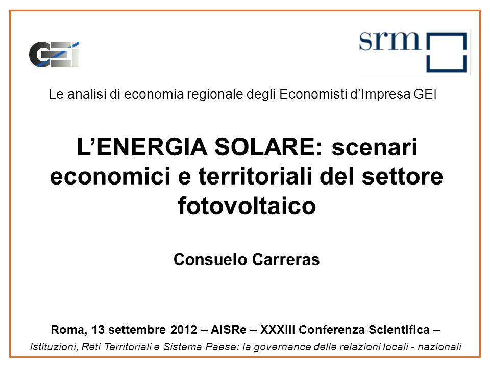 Gli incentivi al fotovoltaico: il V Conto Energia 20 Il tetto di spesa da raggiungere è di 6,7 mld di costo cumulato annuo Oggi sono stati spesi poco meno di 6,2 mld Il mercato come reagirà?