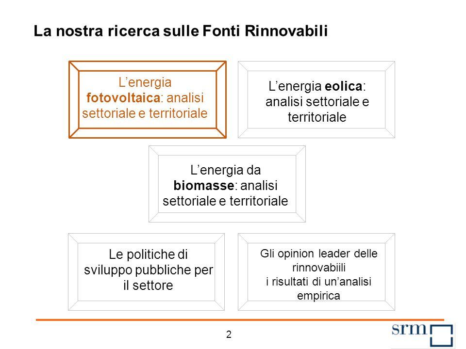 Agenda 1 La struttura dei Quaderni sulle Rinnovabili Il fotovoltaico nel contesto mondiale ed europeo Il fotovoltaico in Italia Un quadro degli incent