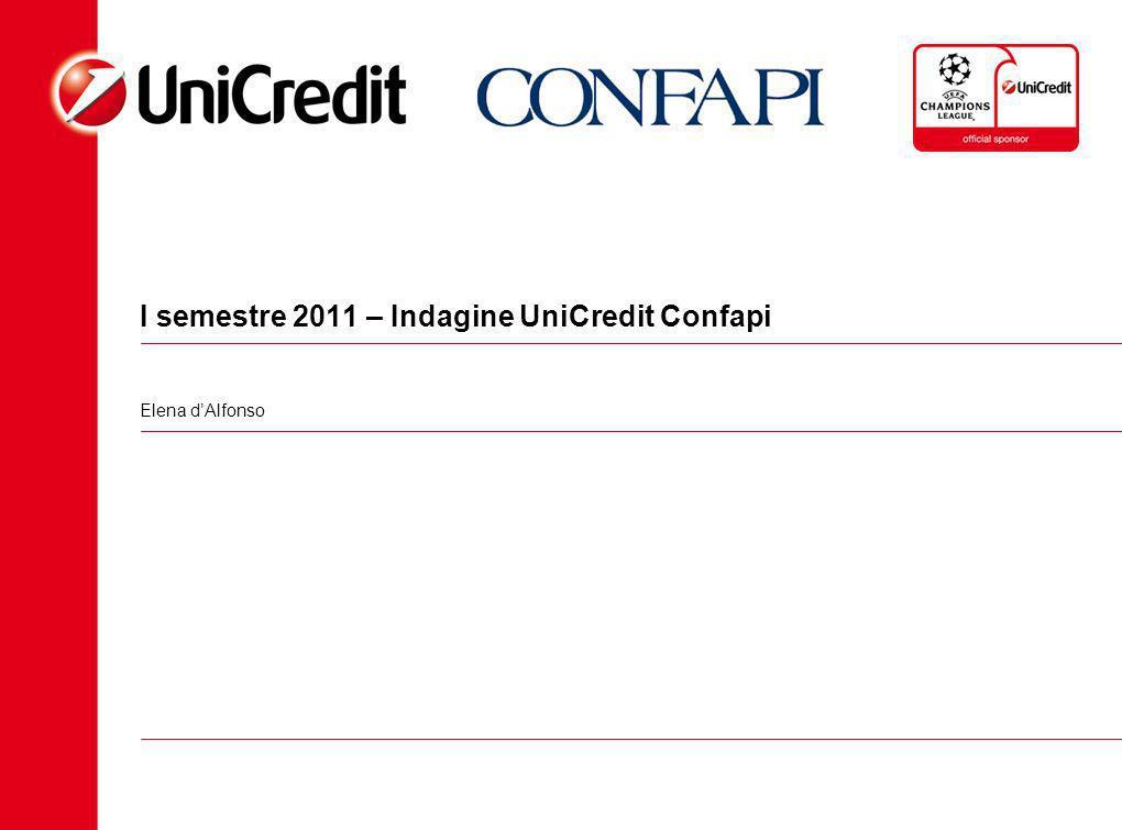 I semestre 2011 – Indagine UniCredit Confapi Elena dAlfonso