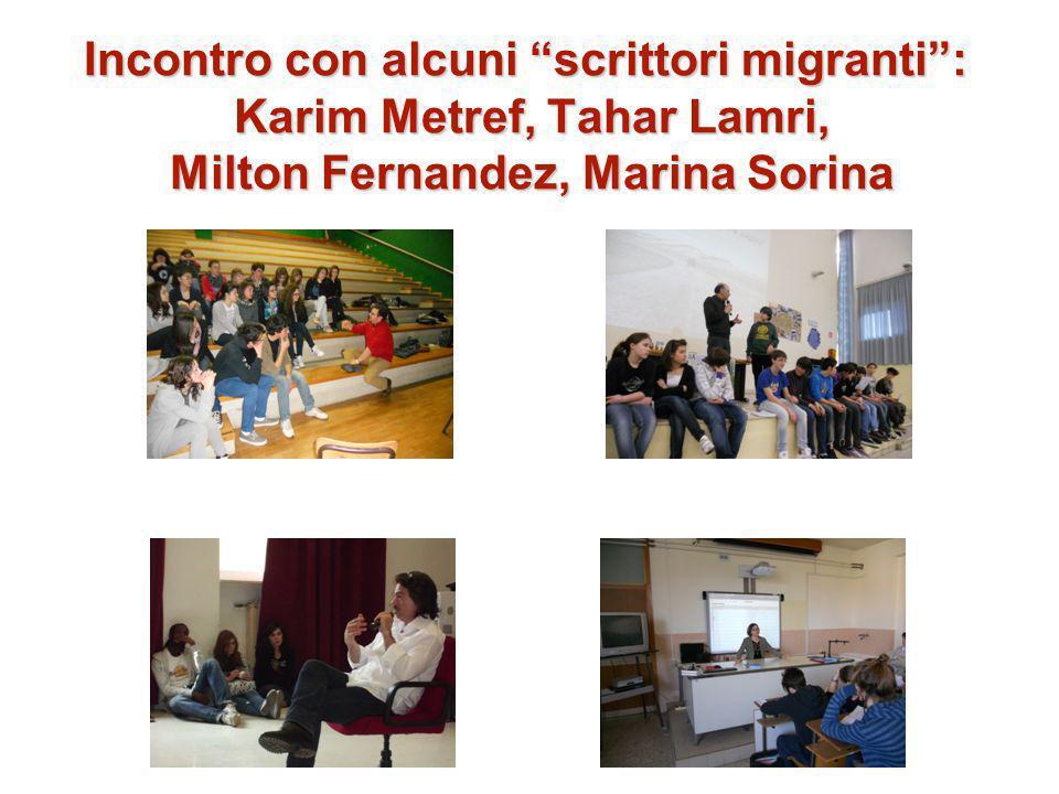 Incontro con alcuni scrittori migranti: Karim Metref, Tahar Lamri, Milton Fernandez, Marina Sorina