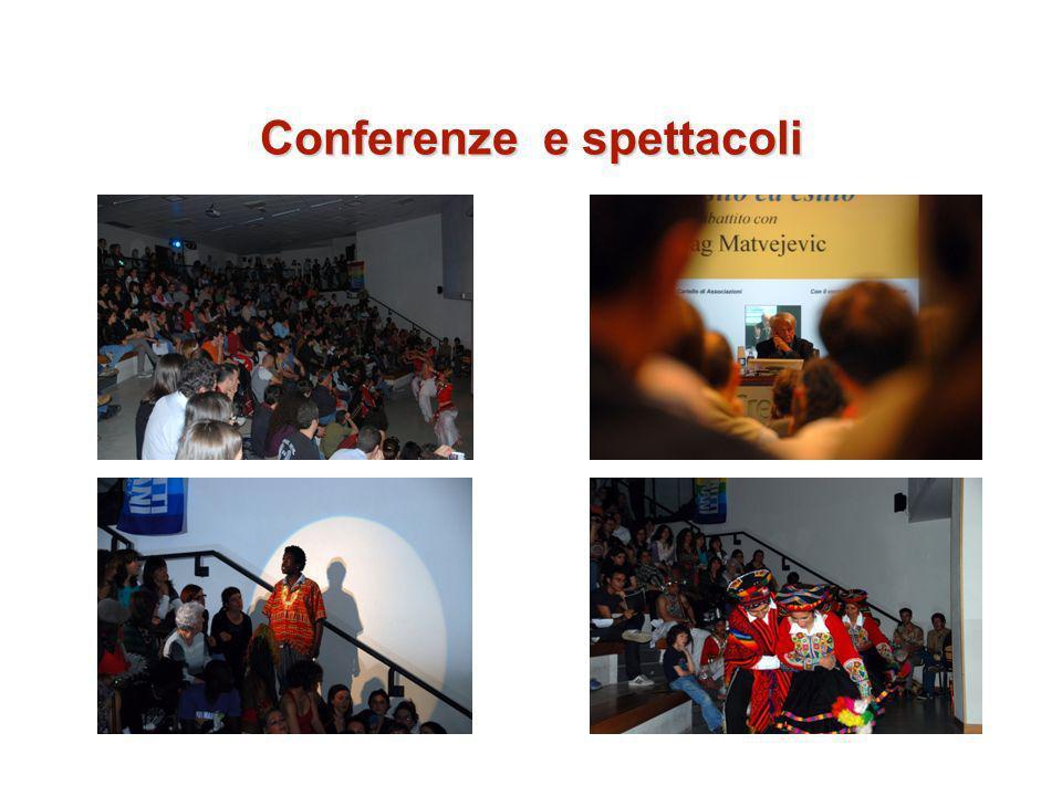 Conferenze e spettacoli