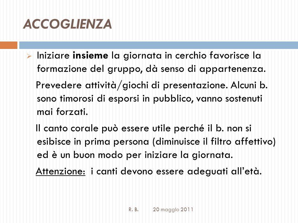ACCOGLIENZA R. B.