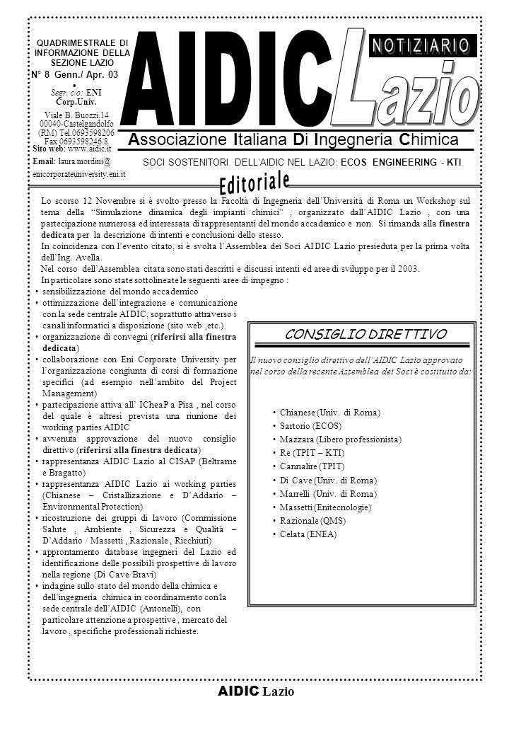 AIDIC Lazio N° 8 Genn./ Apr.