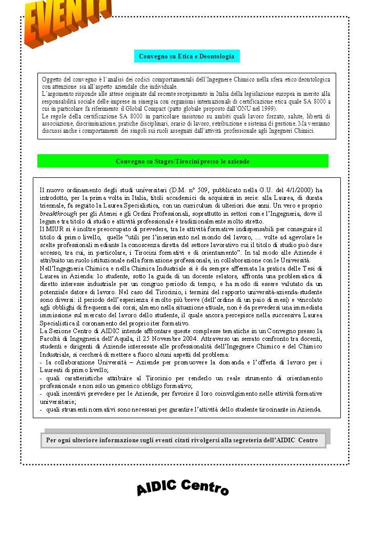 AIDIC Lazio - Convegno H2 – age When, Where, Why