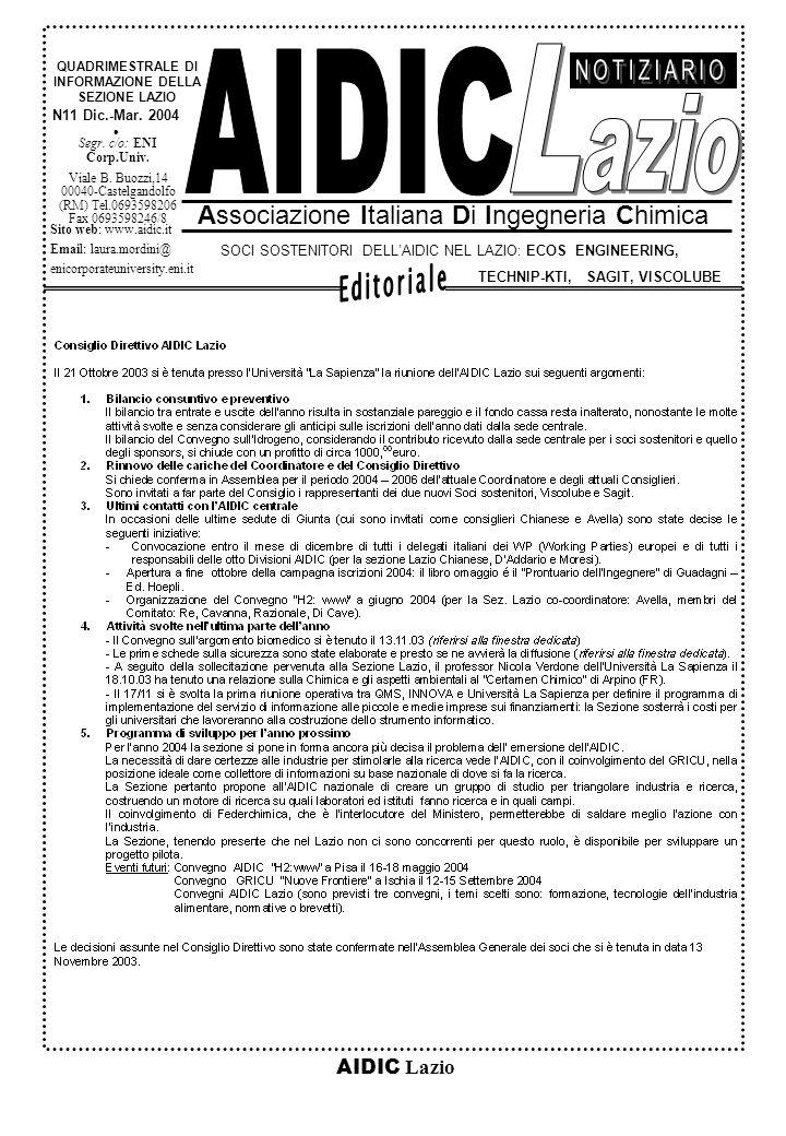 AIDIC Lazio N11 Dic.-Mar.