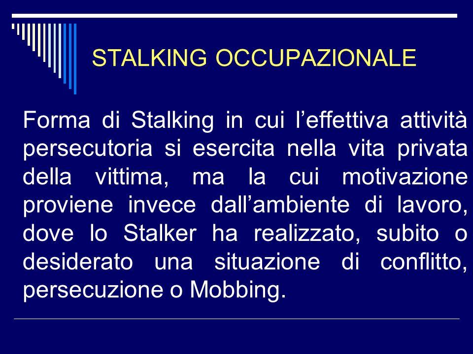 MODELLO EGE DI STALKING A 4 FASI 1.Relazione conflittuale 2.