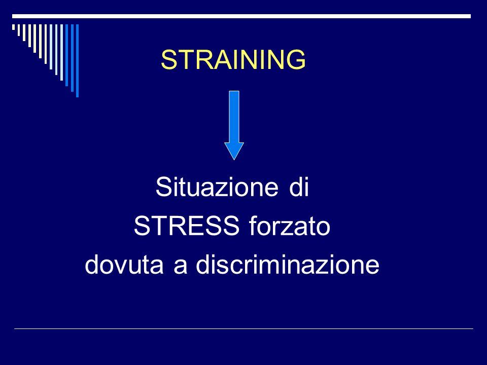 Situazione di STRESS forzato dovuta a discriminazione STRAINING