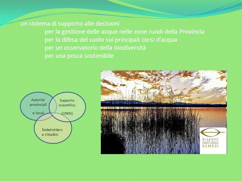 un sistema di supporto alle decisioni per la gestione delle acque nelle zone rurali della Provincia per la difesa del suolo sui principali corsi dacqu