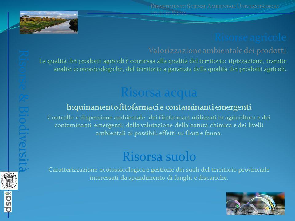 Risorse agricole Valorizzazione ambientale dei prodotti La qualità dei prodotti agricoli è connessa alla qualità del territorio: tipizzazione, tramite