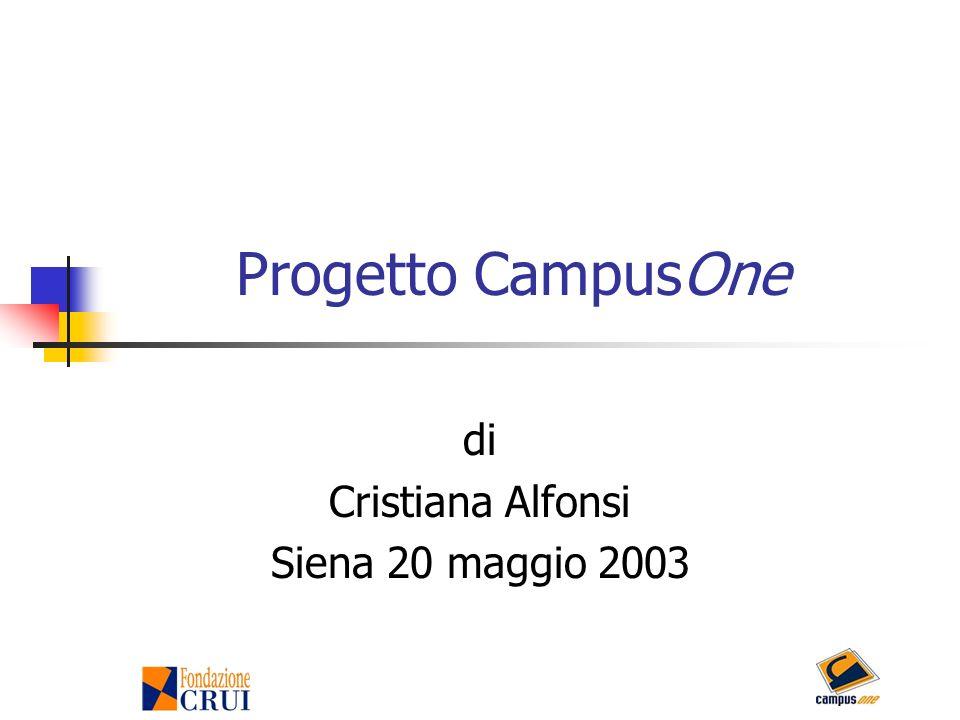 Progetto CampusOne di Cristiana Alfonsi Siena 20 maggio 2003