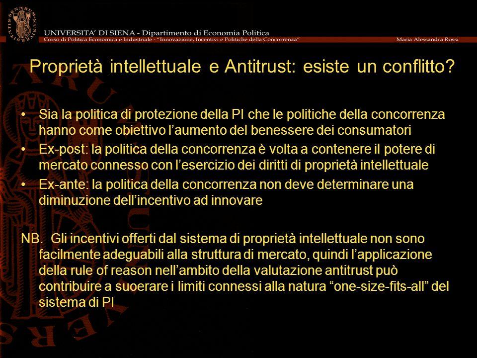 Proprietà intellettuale e Antitrust: esiste un conflitto.