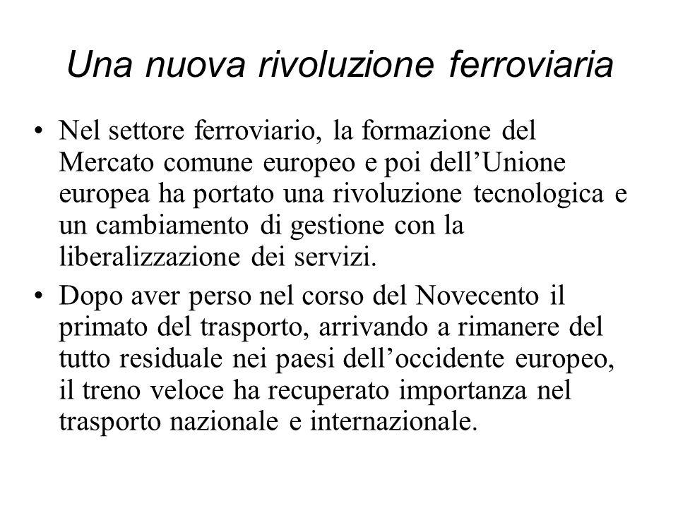 Una nuova rivoluzione ferroviaria Nel settore ferroviario, la formazione del Mercato comune europeo e poi dellUnione europea ha portato una rivoluzion