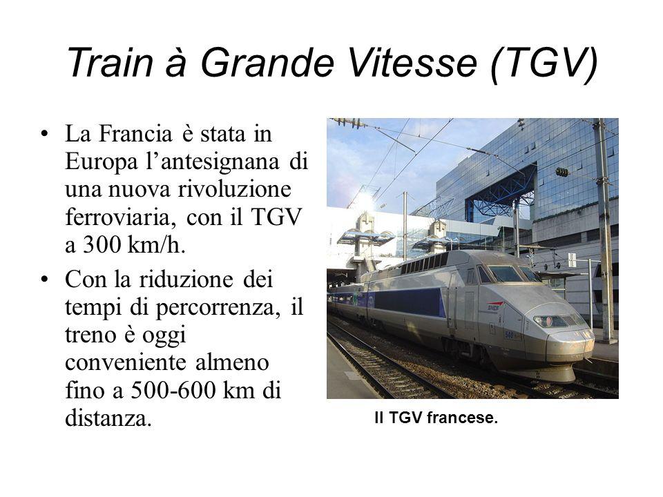 Train à Grande Vitesse (TGV) La Francia è stata in Europa lantesignana di una nuova rivoluzione ferroviaria, con il TGV a 300 km/h. Con la riduzione d