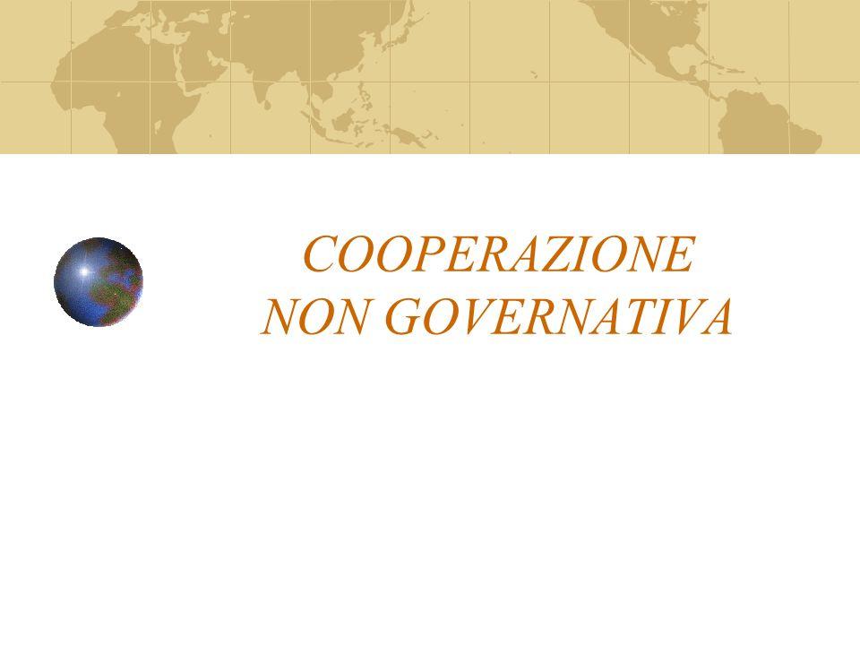 COOPERAZIONE NON GOVERNATIVA