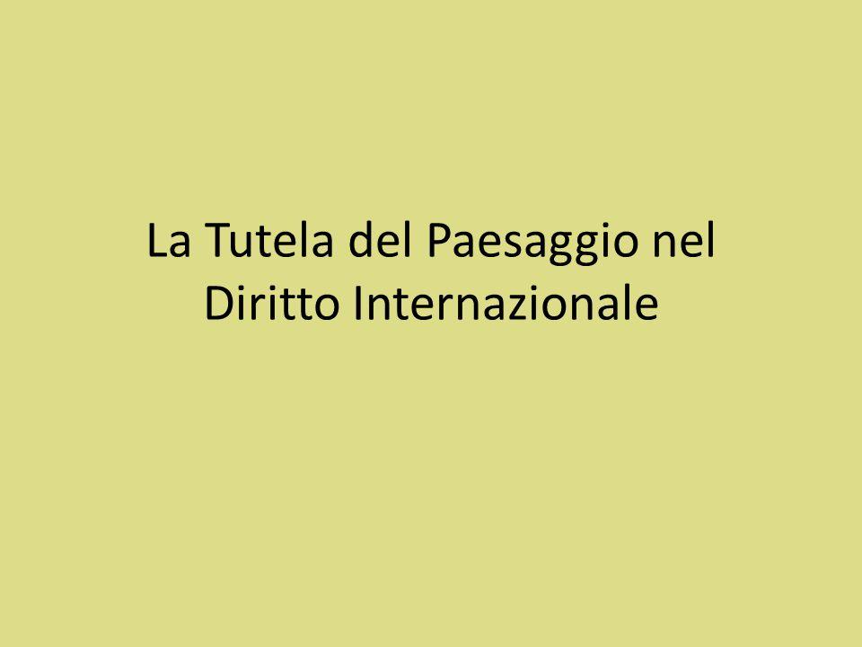 La Convenzione Europea del Paesaggio Adottata a Firenze il 20 Ottobre 2000 Entra in vigore il 1 Marzo 2004 Primo strumento giuridico riguardante in modo diretto e specifico il paesaggio europeo Offre una definizione specifica di paesaggio che unisce aspetti cultural ed ambientali.