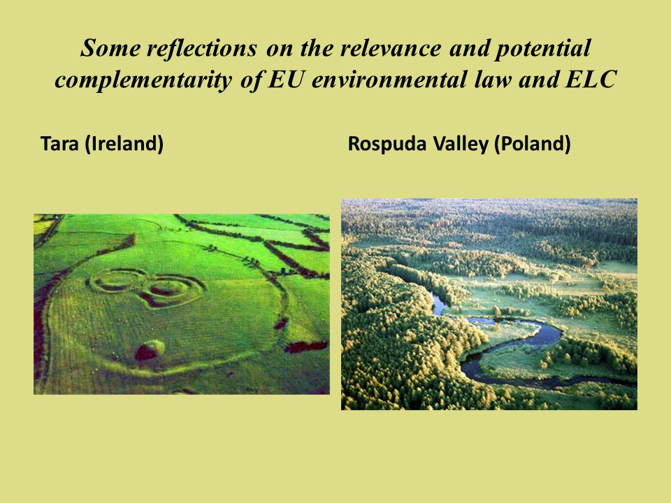 Some reflections on the relevance and potential complementarity of EU environmental law and ELC Tara (Ireland)Rospuda Valley (Poland)