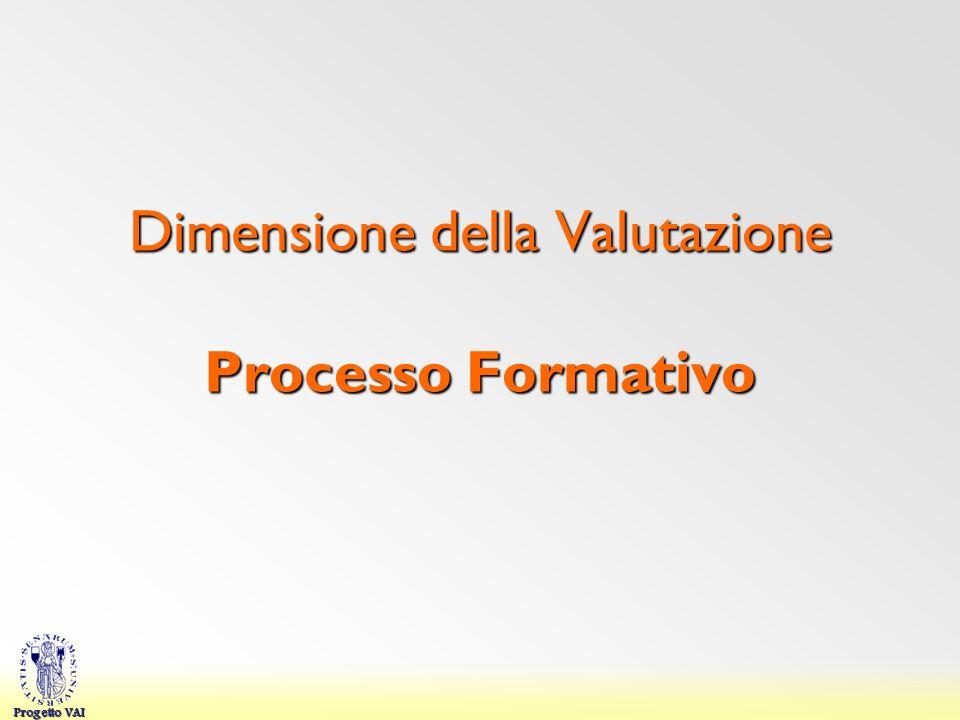 Progetto VAI Dimensione della Valutazione Processo Formativo