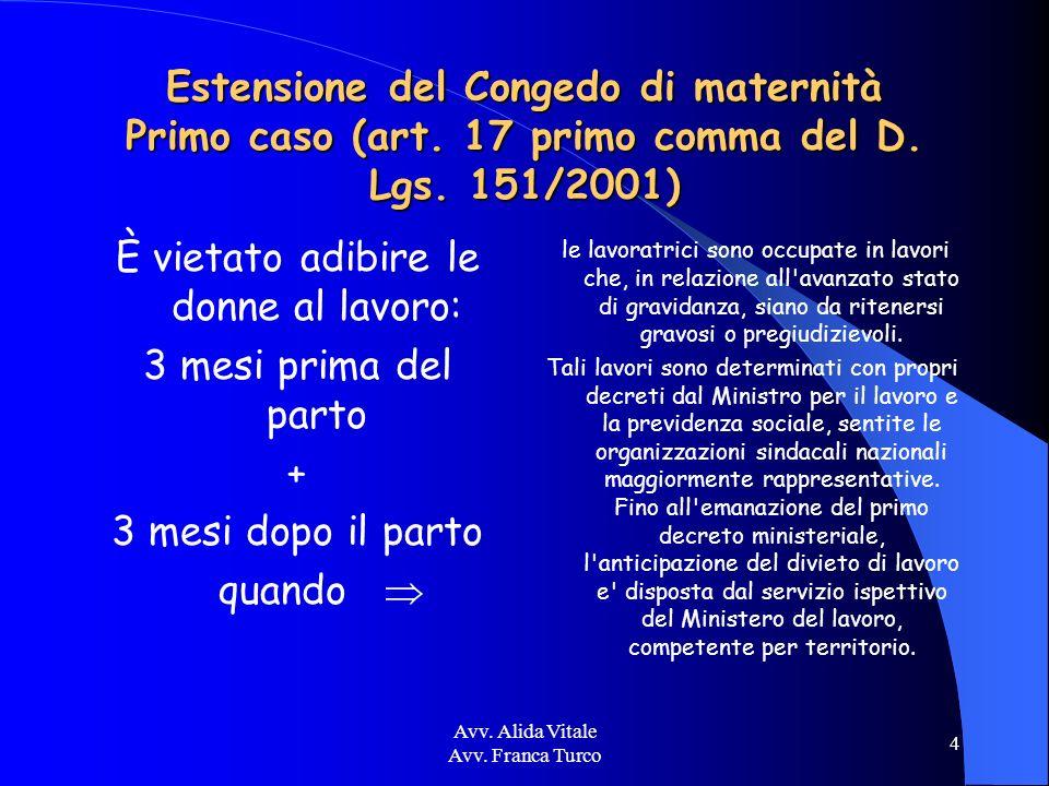 Avv.Alida Vitale Avv. Franca Turco 25 Indennità di maternità – quanto spetta.