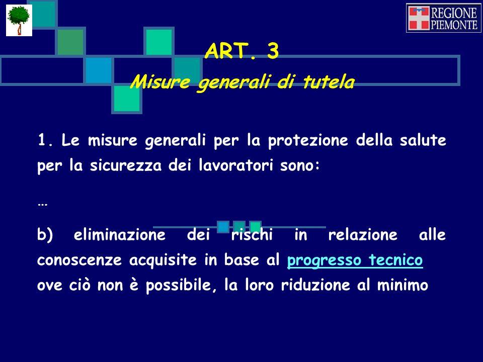 ART.3 Misure generali di tutela 1.