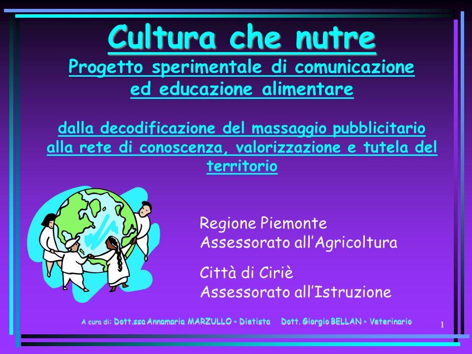 41 REGIONE Agenzia informativa: www.culturachenutre.it www.regione.piemonte.it\agri edalimentare.cirie.net