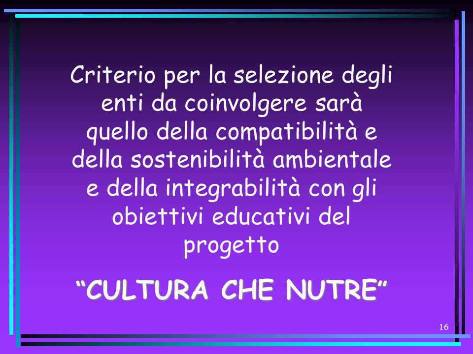 15 – –valorizzando le attività didattiche culturali produttive già attive e – –innescandone di nuove mobilizzando potenziali partner, – –agevolando la