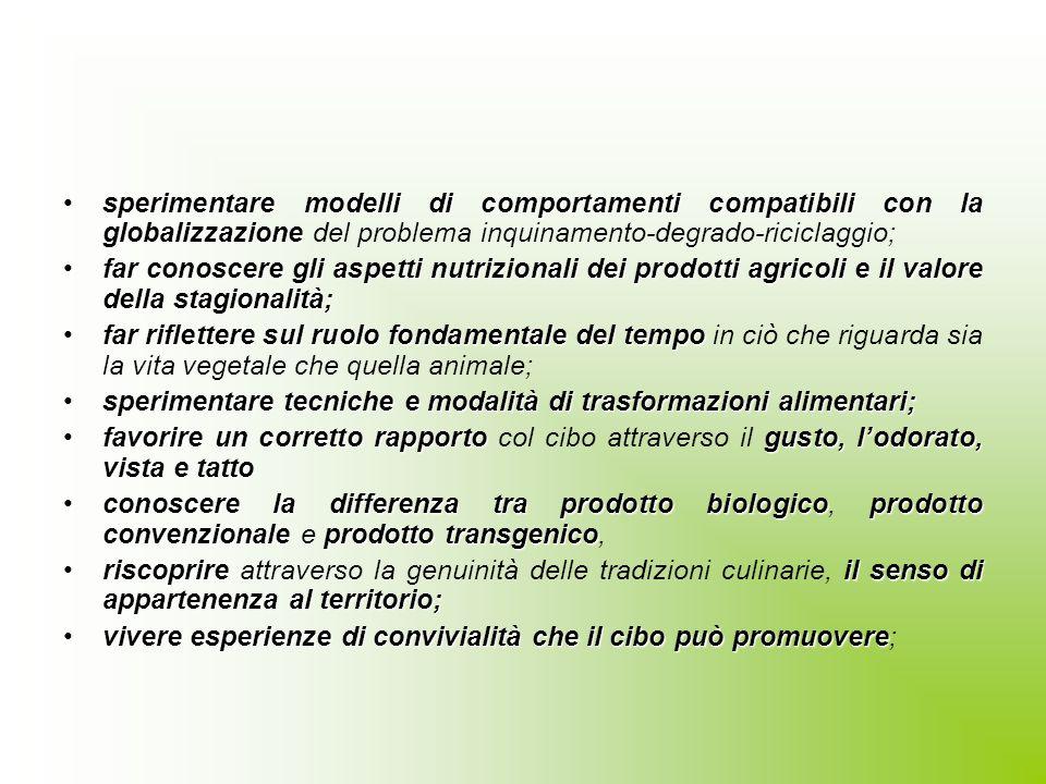 Finalità educative specifiche comportamenti alimentari proprimass- mediafar riflettere su comportamenti alimentari propri o proposti dai mass- media;