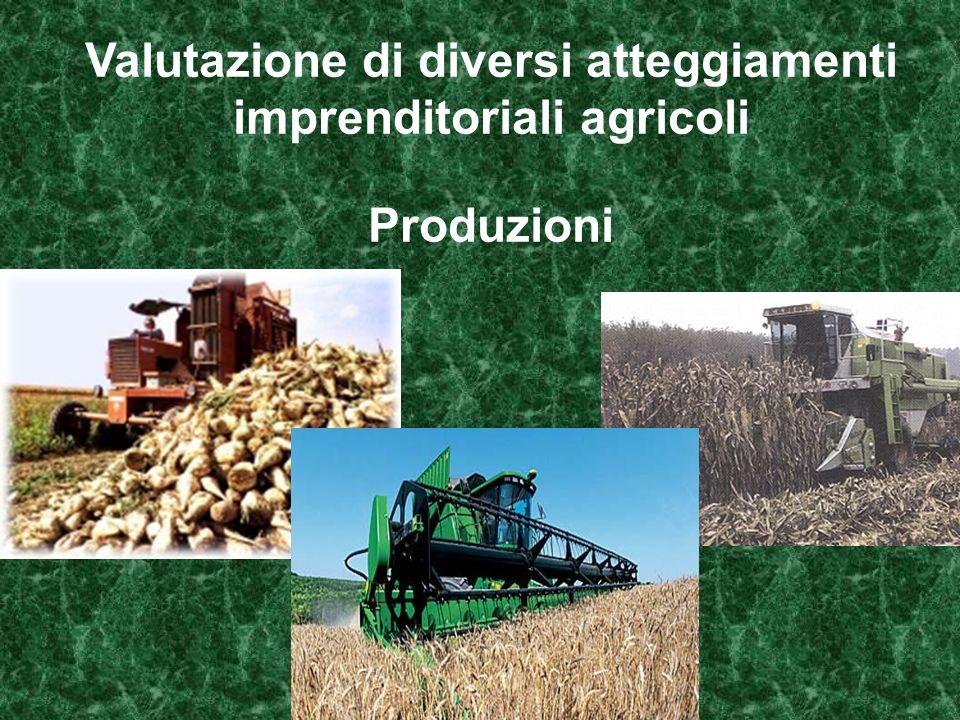 Valutazione di diversi atteggiamenti imprenditoriali agricoli Produzioni