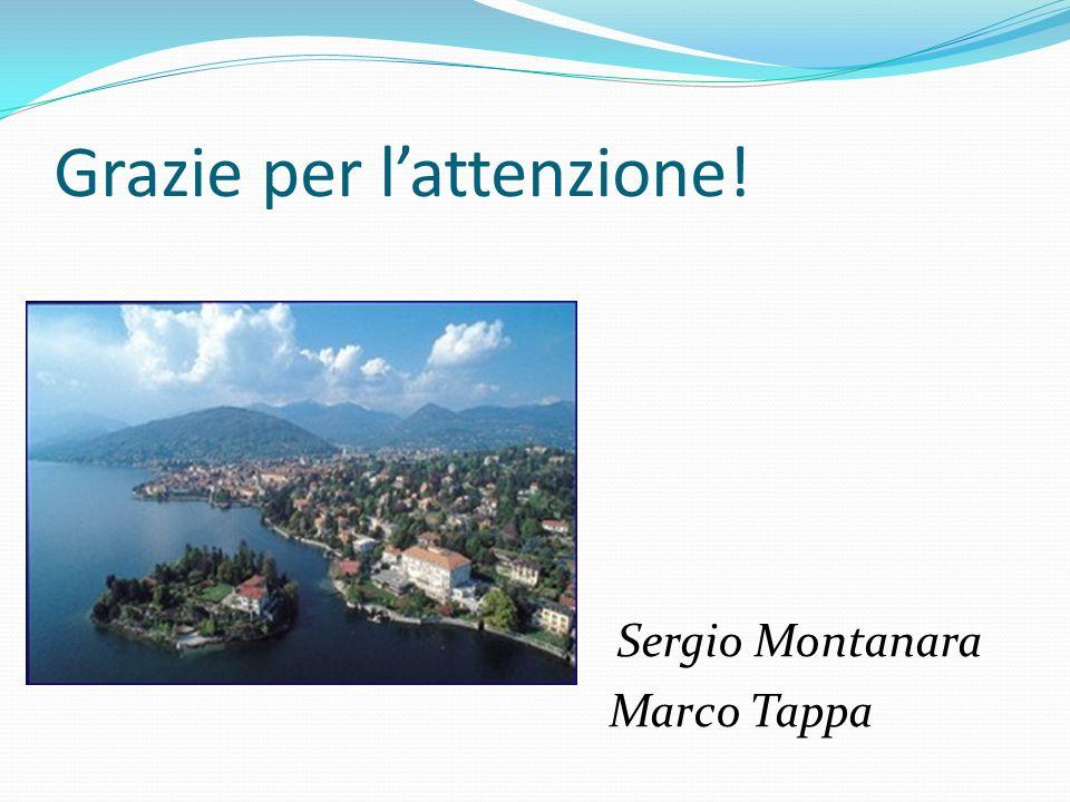 Grazie per lattenzione! Sergio Montanara Marco Tappa