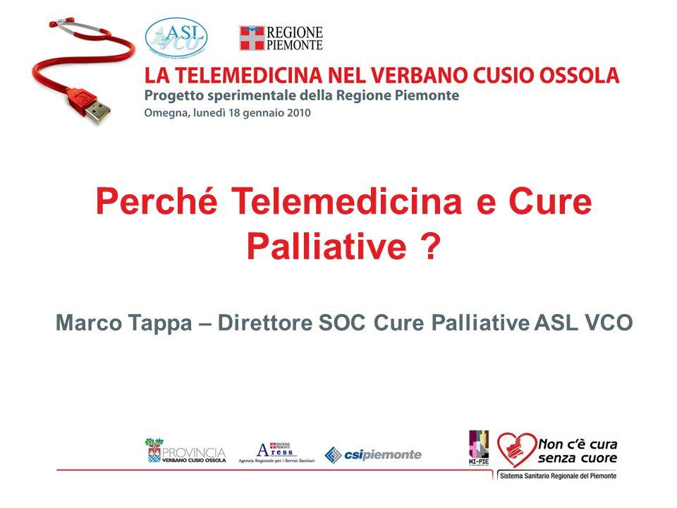 Perché Telemedicina e Cure Palliative ? Marco Tappa – Direttore SOC Cure Palliative ASL VCO