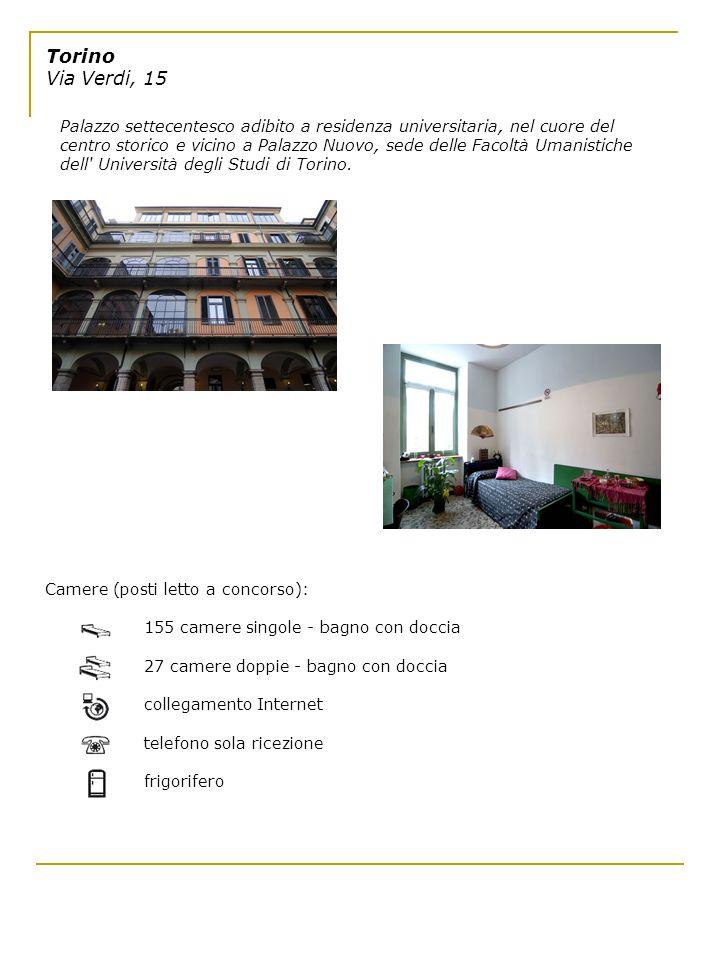 Torino Via Verdi, 15 Palazzo settecentesco adibito a residenza universitaria, nel cuore del centro storico e vicino a Palazzo Nuovo, sede delle Facolt