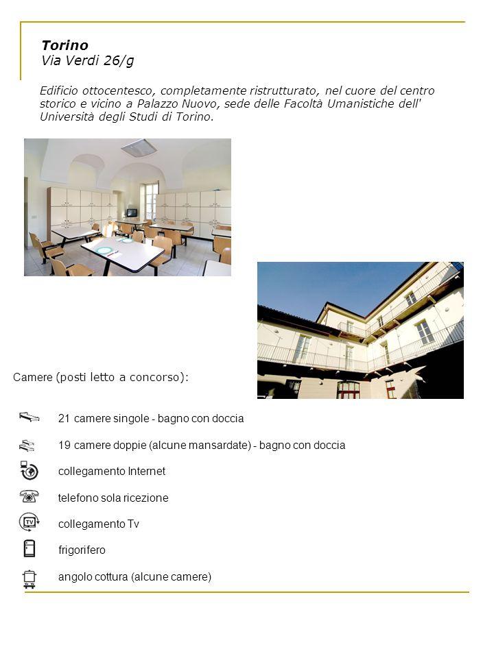 Torino Via Verdi 26/g Edificio ottocentesco, completamente ristrutturato, nel cuore del centro storico e vicino a Palazzo Nuovo, sede delle Facoltà Um