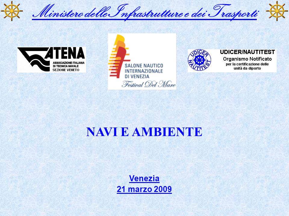 Ministero delle Infrastrutture e dei Trasporti NAVI E AMBIENTE Venezia 21 marzo 2009