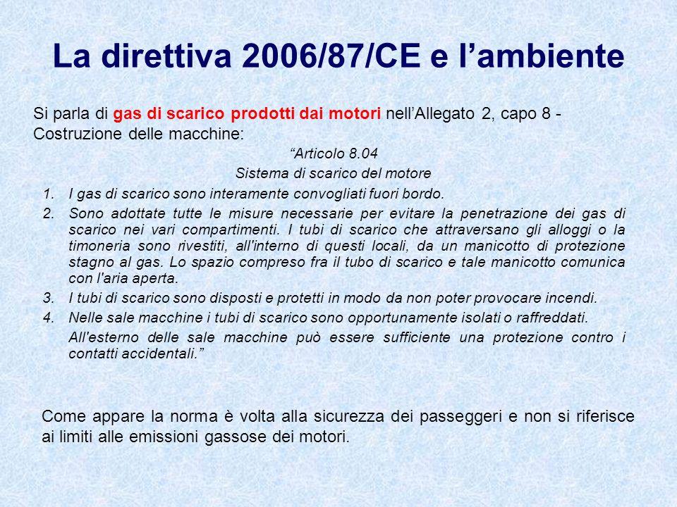 Articolo 8.04 Sistema di scarico del motore 1. I gas di scarico sono interamente convogliati fuori bordo. 2. Sono adottate tutte le misure necessarie