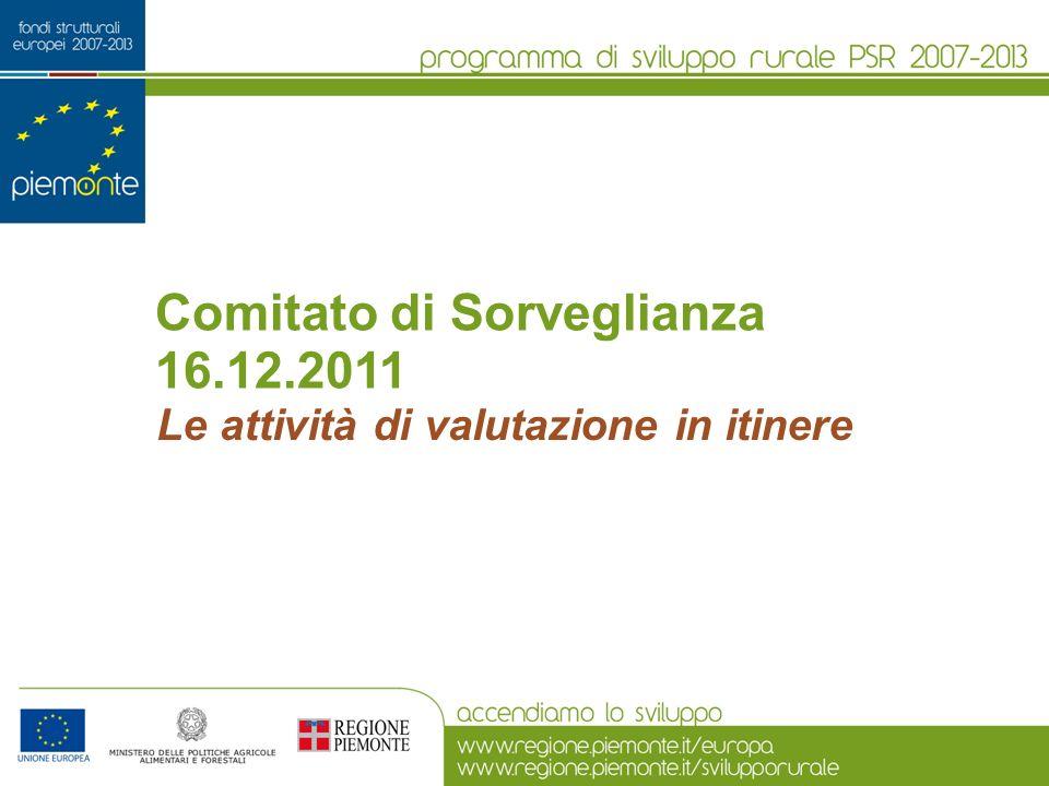 Comitato di Sorveglianza 16.12.2011 Le attività di valutazione in itinere