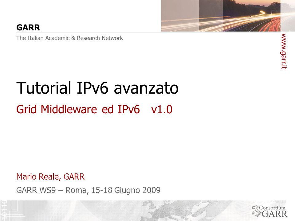 12 GARR WS9, Roma, 15-18 Giugno 2009 Esempio di uso dell IPv6 code checker 12 Click Here … …