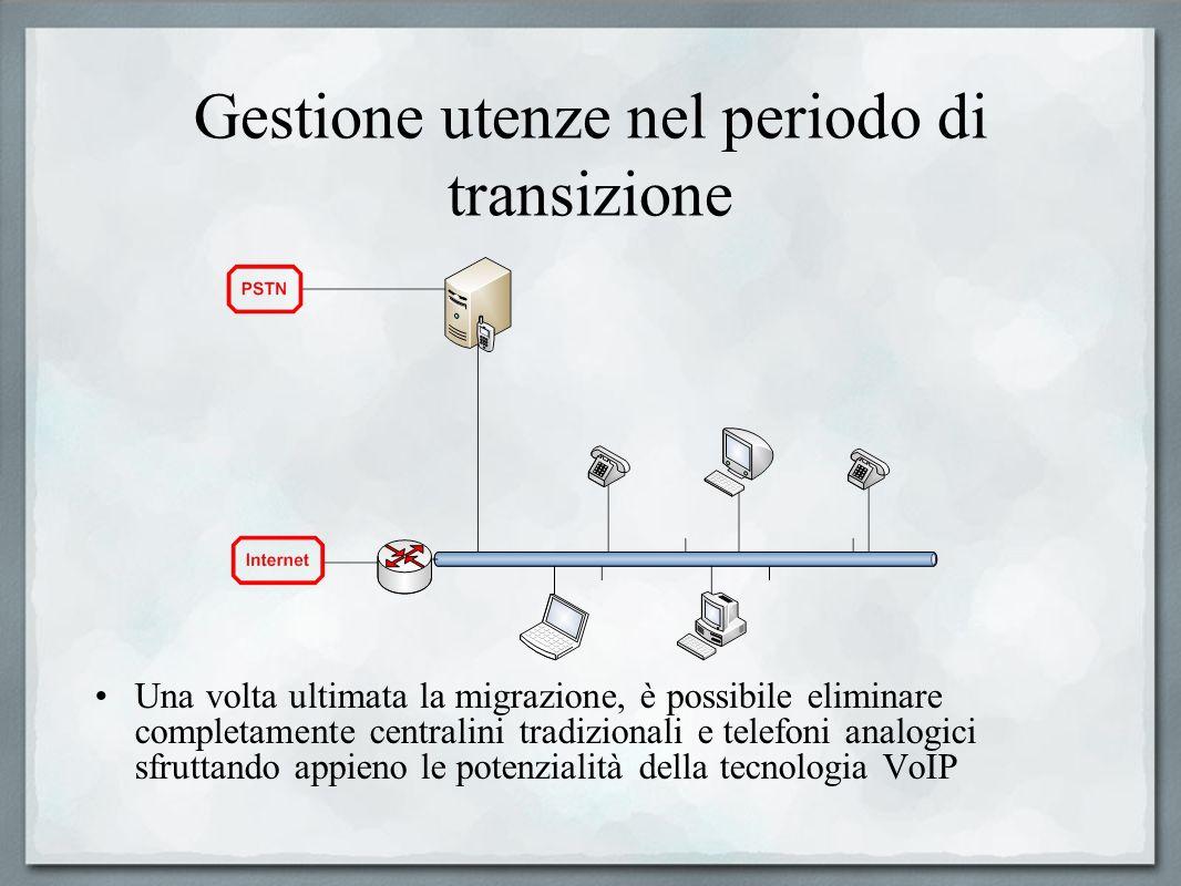 Gestione utenze nel periodo di transizione Una volta ultimata la migrazione, è possibile eliminare completamente centralini tradizionali e telefoni an