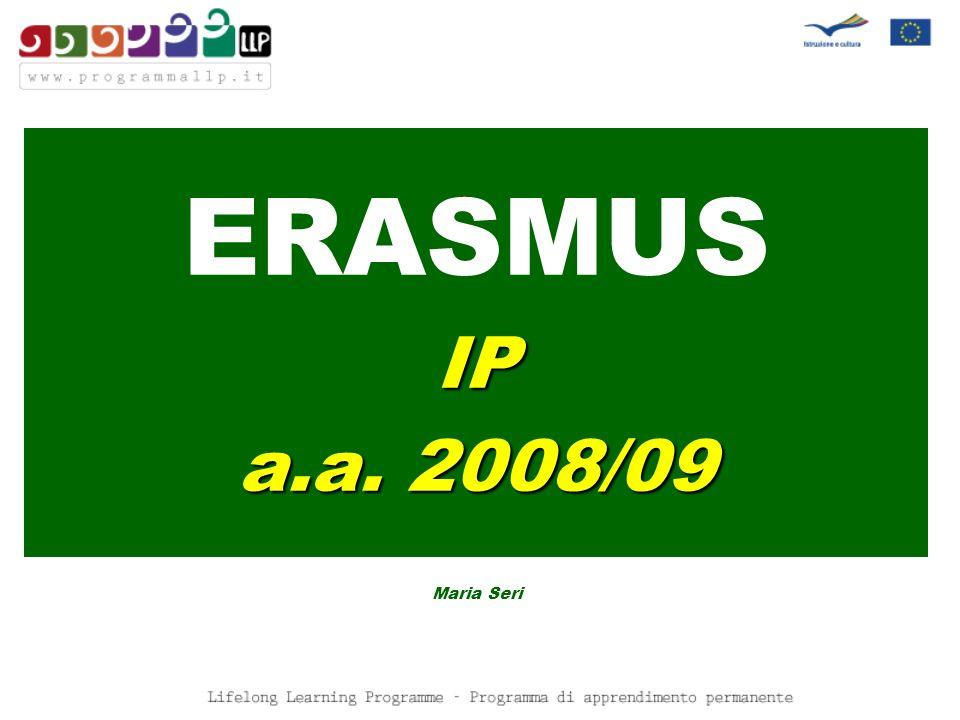 ERASMUSIP a.a. 2008/09 Maria Seri